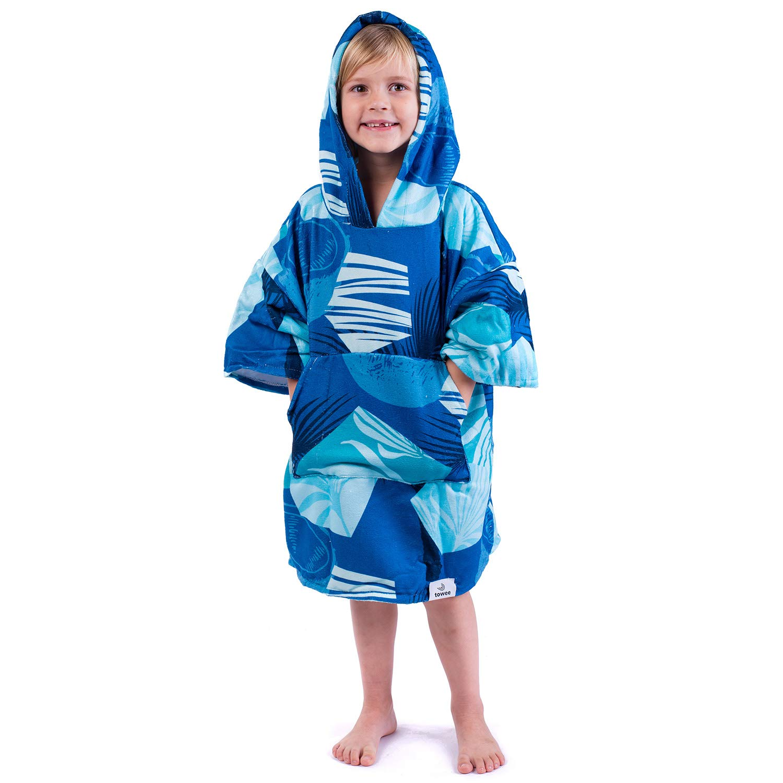 50 x 60 cm, Blau Kapuzenhandt/ücher Surferhandtuch f/ür Kinder Towee Kinder Poncho Badetuch Kinder Surf poncho
