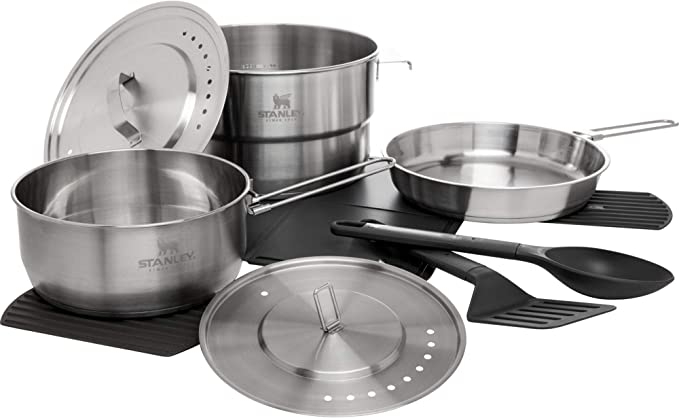Details about  /Outdoor Camping Cookware Cooking Set Picnic Hiking Kitchen Pots Gas Stove Burner