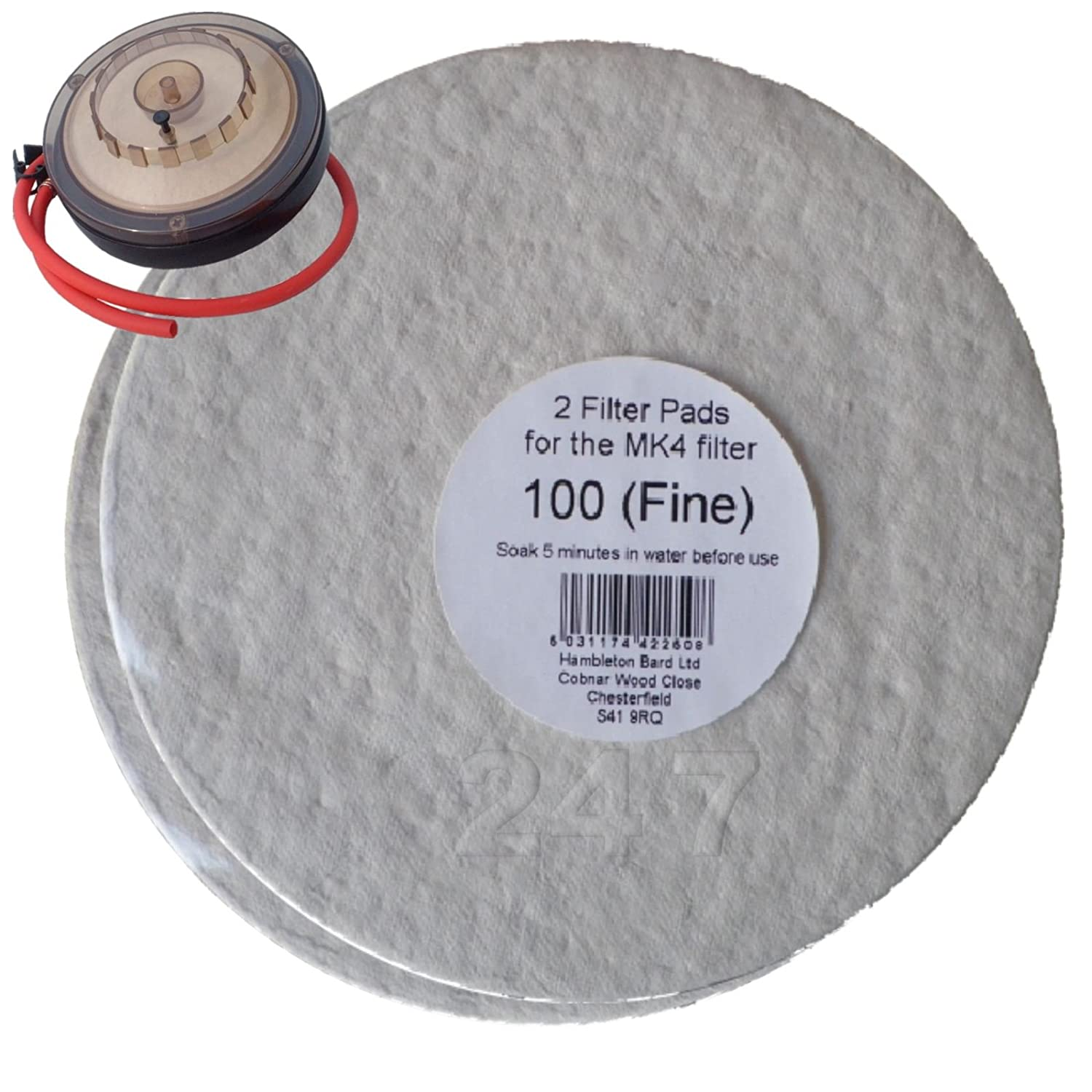 Filter Pads 100 Fine 2x Pack for the Better Brew MK4 Wine Filter Homebrew
