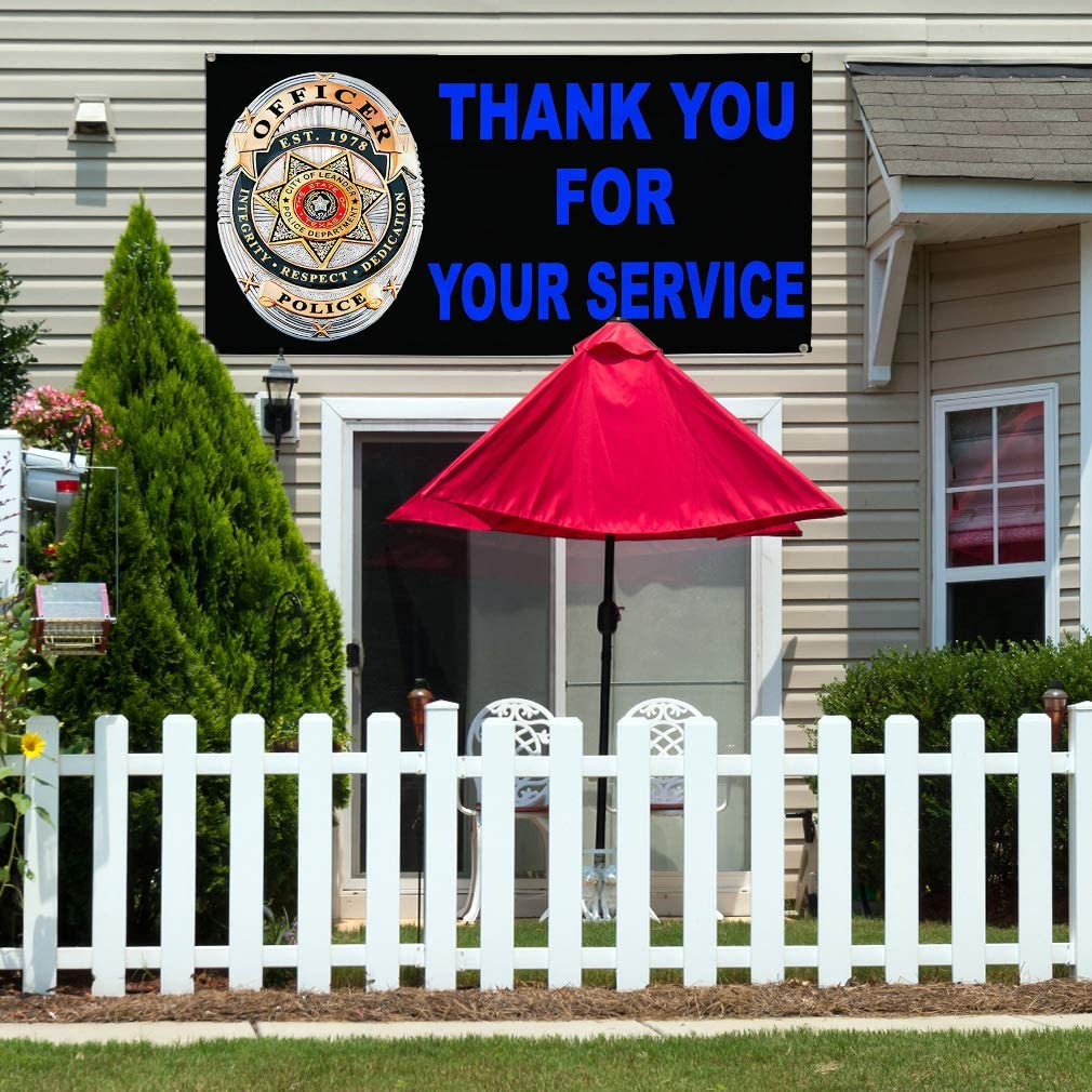 48inx96in 8 Grommets Vinyl Banner Sign Thank You for Your Service Black Outdoor Marketing Advertising Black Multiple Sizes Available One Banner