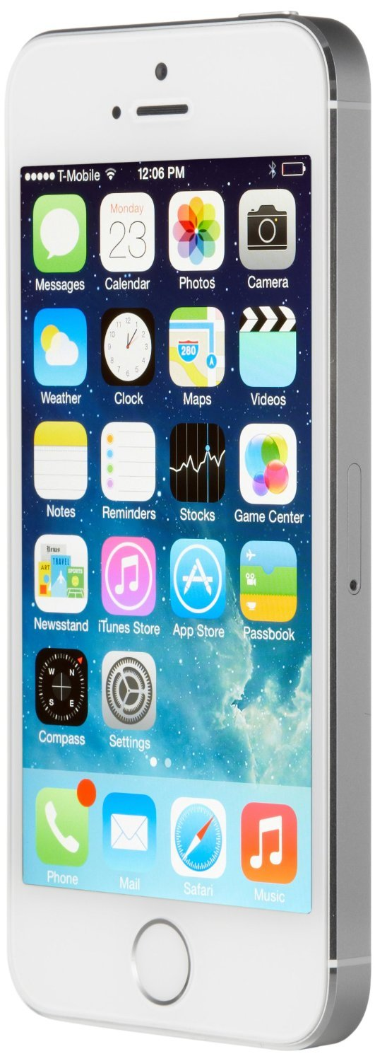 Apple iPhone 5S 16GB GSM Unlocked, Silver (Certified Refurbished) by Apple (Image #2)