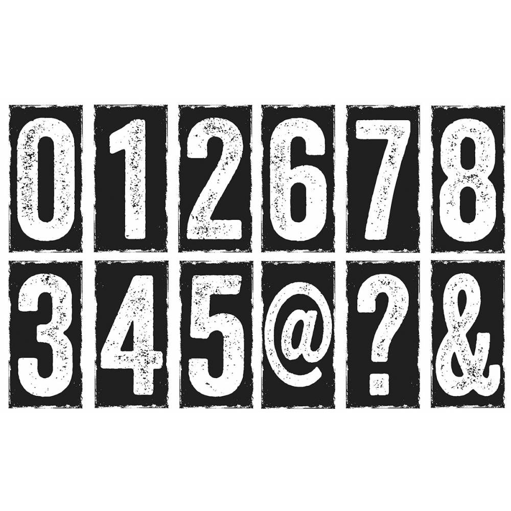 Stampers Anonymous Tim Holtz Cling Rubber Big Number Blocks Stamp Set, 7 x 8.5