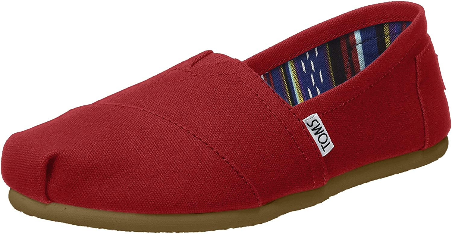 B00ZL1FA2G TOMS Women's Classic Canvas Red Ankle-High Flat Shoe - 11M 71JUB33O-BL