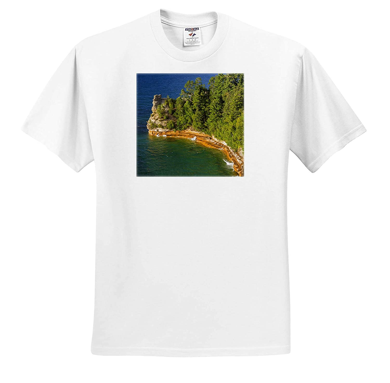 Pictured Rocks National Lakeshore Michigan Adult T-Shirt XL ts/_314866 Miners Castle Michigan 3dRose Danita Delimont