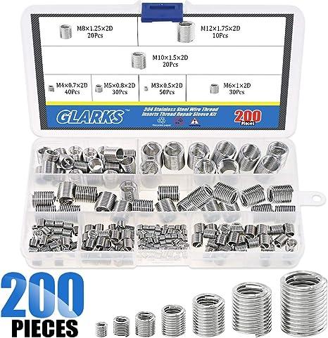 Amazon.com: Glarks - Juego de 200 piezas de inserciones de ...