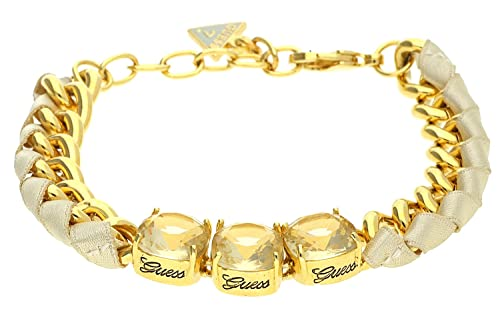 Guess Damen Armband Metall Stoff braun UBB114_2