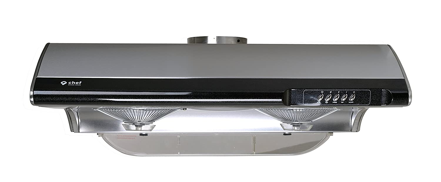Chef Range Hood 30' C190 | TASTEMAKER SERIES | Slim Under Cabinet Range Hood Design | 3 Speed Setting with 750 CFM | Top and Rear Venting Available | Includes Incandescent Lamps Chef Kitch