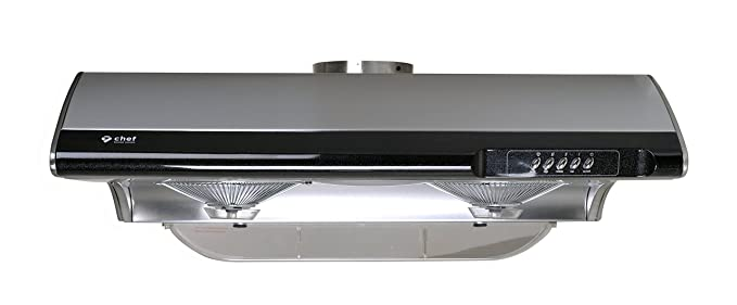 Chef C190 30u0026quot; 3 SPEED SETTING Range Hood W/750 CFM And Incandescent  Lamps