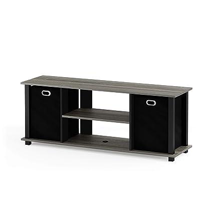 Merveilleux Furinno 13054GYW/BK/BK Econ Entertainment TV Stand With Storage Bin, French  Oak