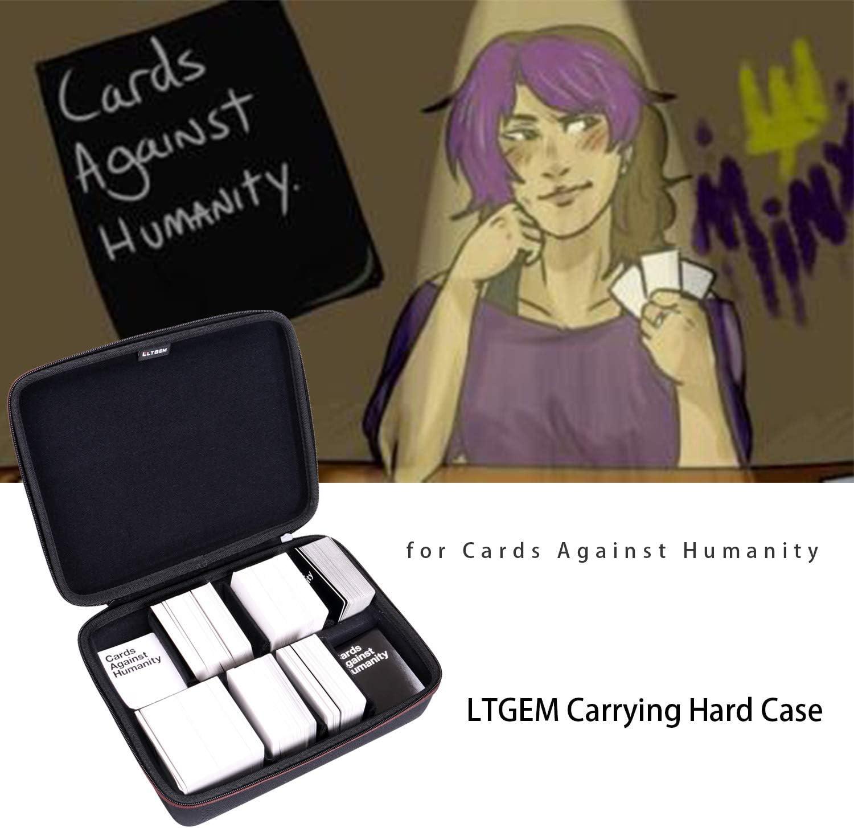 LTGEM EVA Estuche rígido para Cards Against Humanity - Se Adapta al Juego Principal: Amazon.es: Juguetes y juegos