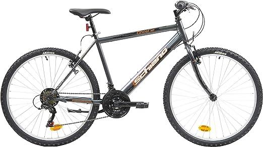 F.lli Schiano Ghost Bicicleta Montaña, Mens, Antracita-Naranja, 26: Amazon.es: Deportes y aire libre