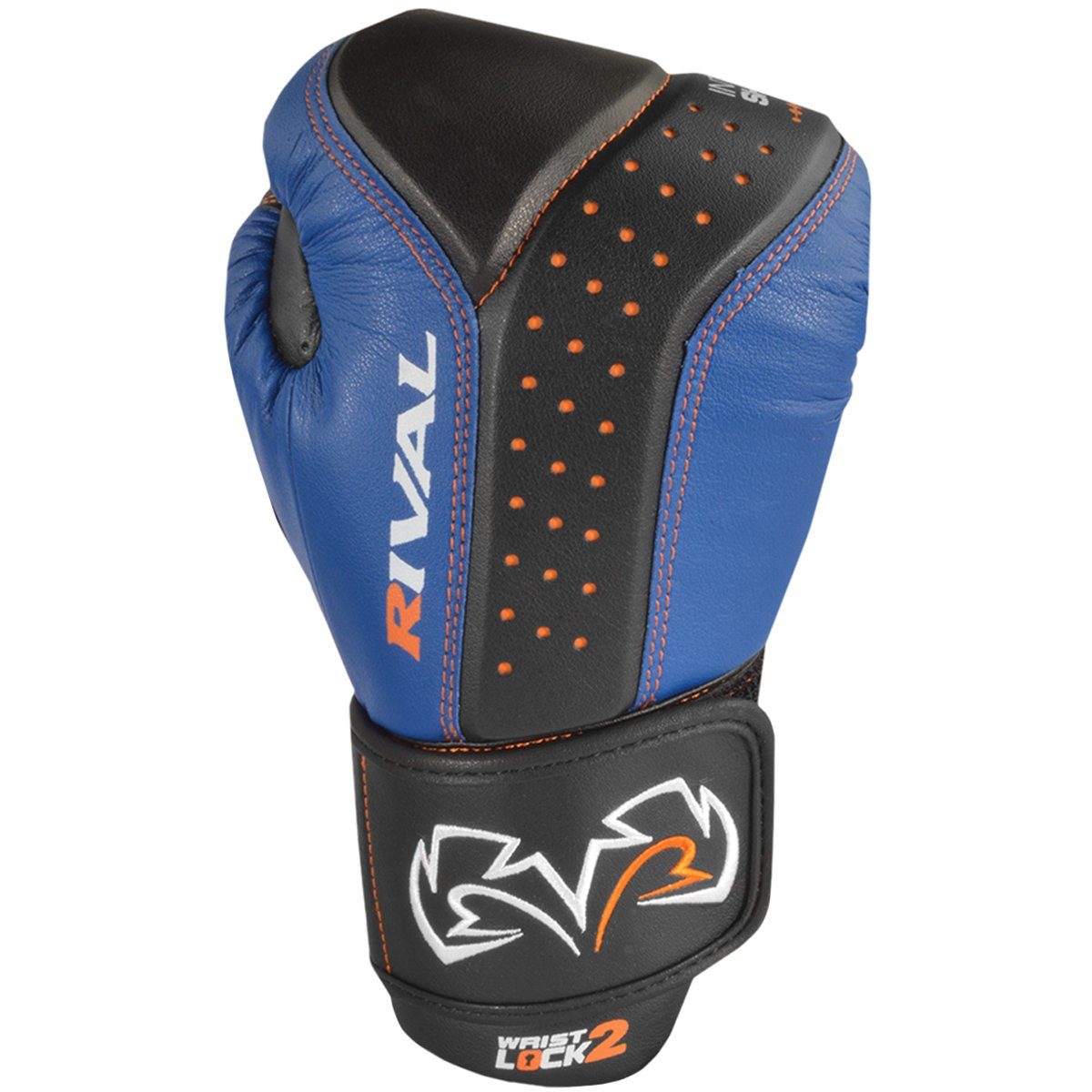 RIVAL BOXING GLOVES (RB10 INTELLI-SHOCK BAG GLOVES) (BLACK/BLUE, MEDIUM) by Rival (Image #3)