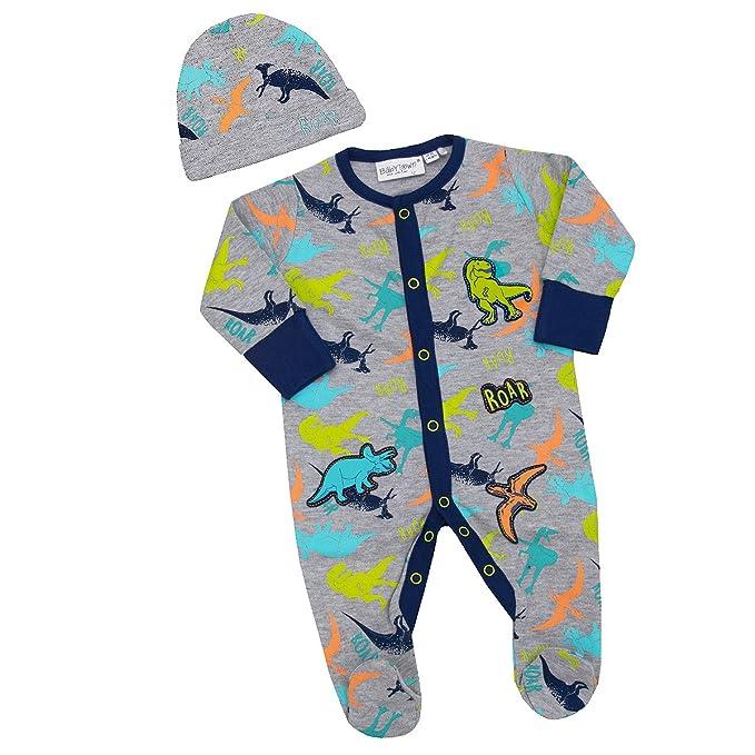 BABY TOWN - Pijama entero - para bebé niño gris DINOSAUR BADGE ...
