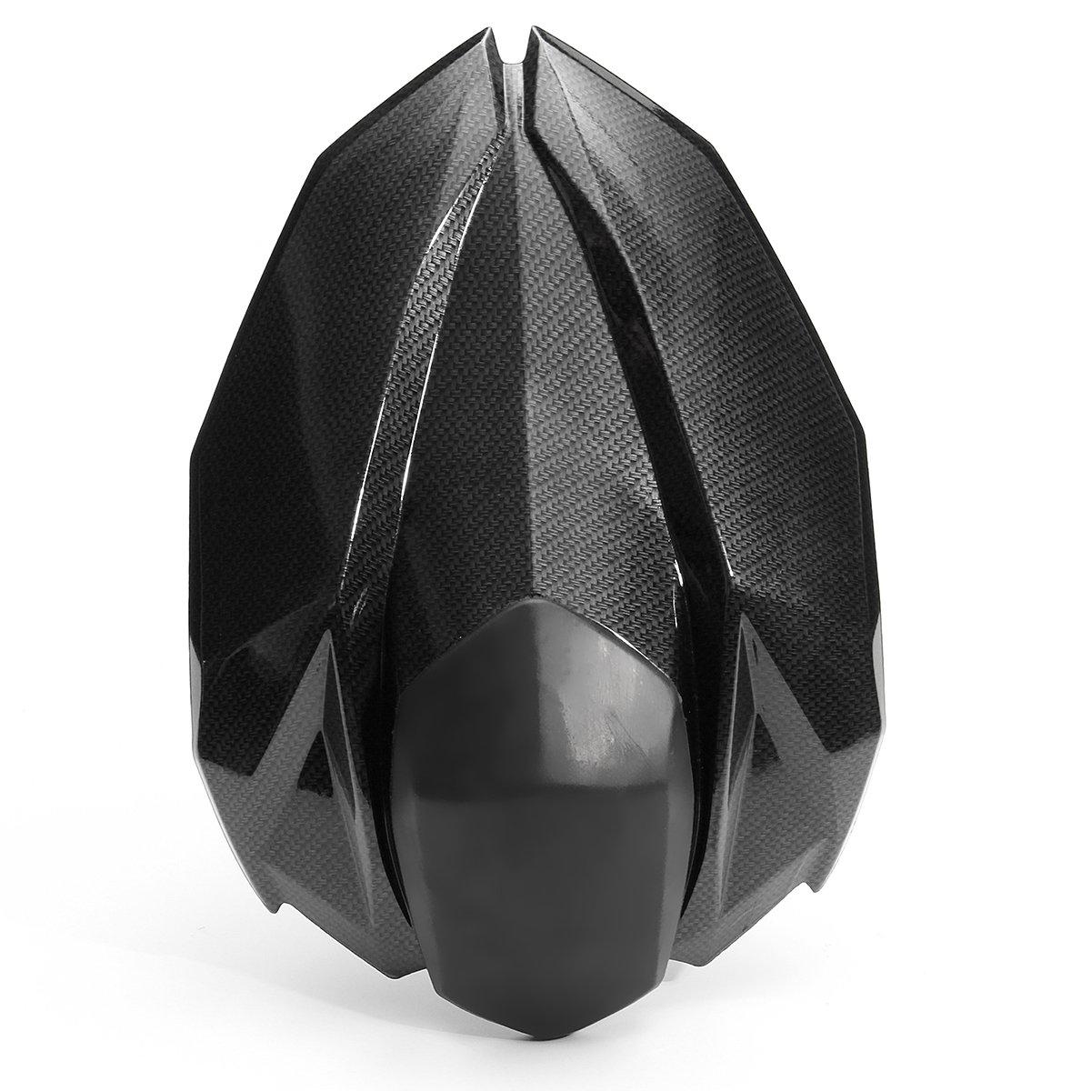 YONGYAO Housse De Siè ge Arriè re Siè ge De Capot Passager pour Kawasaki Z800 Z 800 2013 2014 2015 2016-Carbone