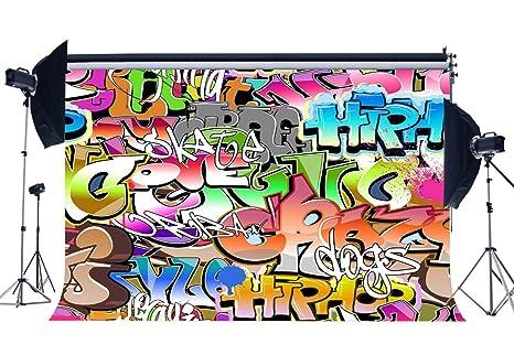 Amazoncom Gladbuy 80s Hip Hop Backdrop 5x3ft Vinyl Graffiti