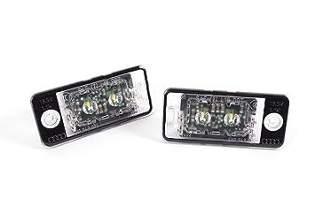 Audi Original LED matrícula Leuchten Juego de 2 4 G0943021: Amazon.es: Coche y moto
