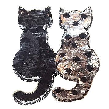 ... color lentejuelas coser en bricolaje ropa parches accesorios ropa para camiseta Jeans Ropa bolsas zapatos cortina estilo gato: Amazon.es: Hogar
