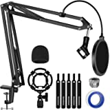 InnoGear Mic Stand, Heavy Duty Arm Stand Max Load 4.0 lb Adjustable Suspension Scissor Arm Stand for Blue Yeti and Other Mics