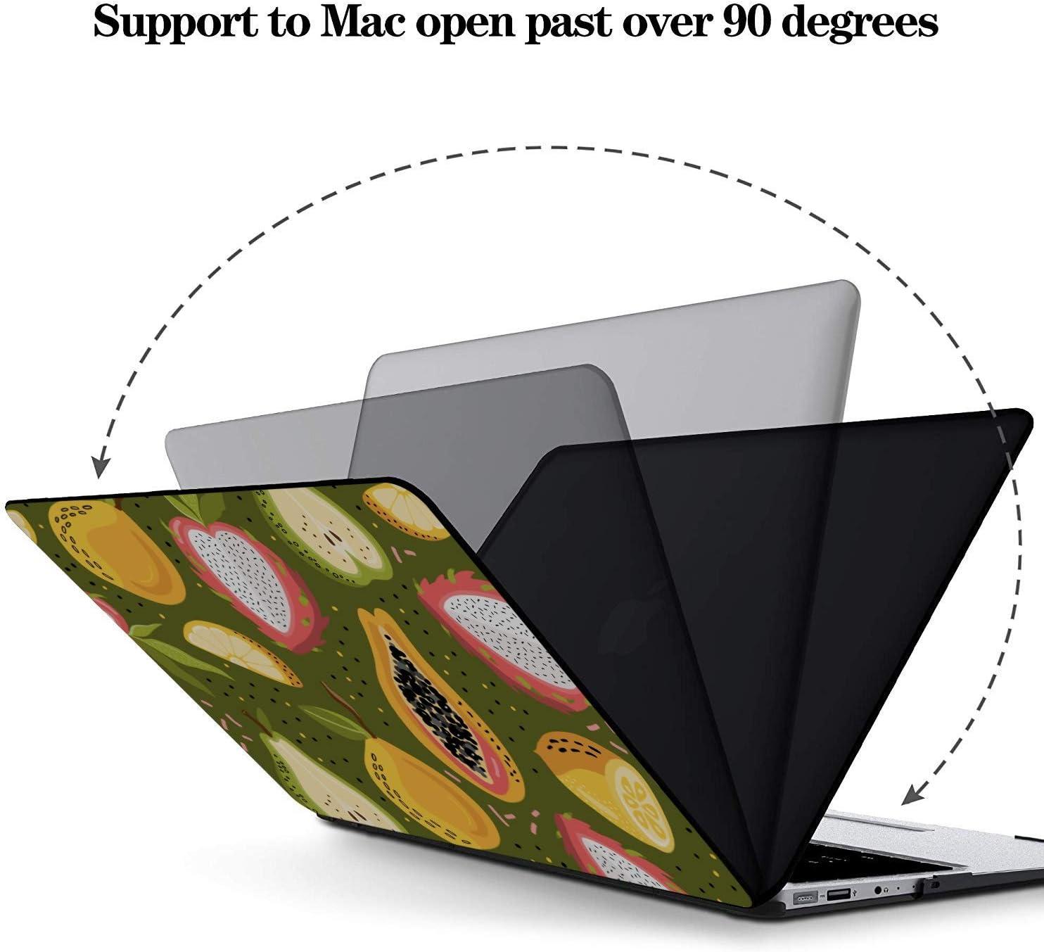 2018 MacBook Air Case Summmer Cute Fashion Fruit Papaya Plastic Hard Shell Compatible Mac Air 11 Pro 13 15 MacBook Pro Shell Protection for MacBook 2016-2019 Version