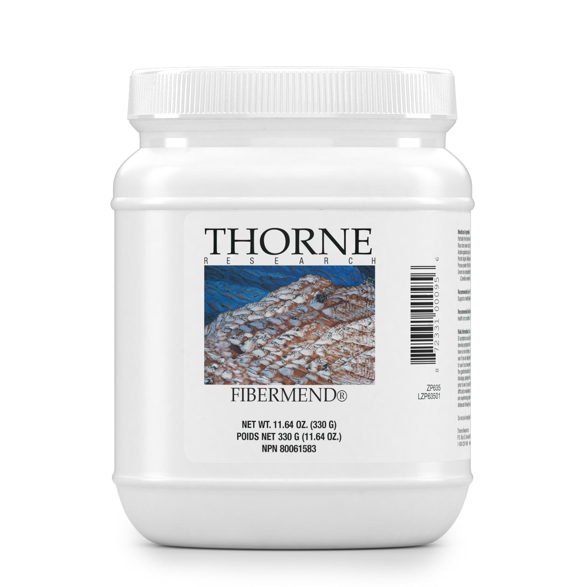 Thorne Research - FiberMend - Prebiotic Fiber Powder to Help Maintain Regularity and Balanced GI Flora - 11.6 oz.