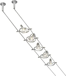 industrial track lighting fixtures. Tiella 800CBL5PN, Accent Electronic Low Volt Surface Track Lighting Kits, 100 Watts Halogen, Industrial Fixtures