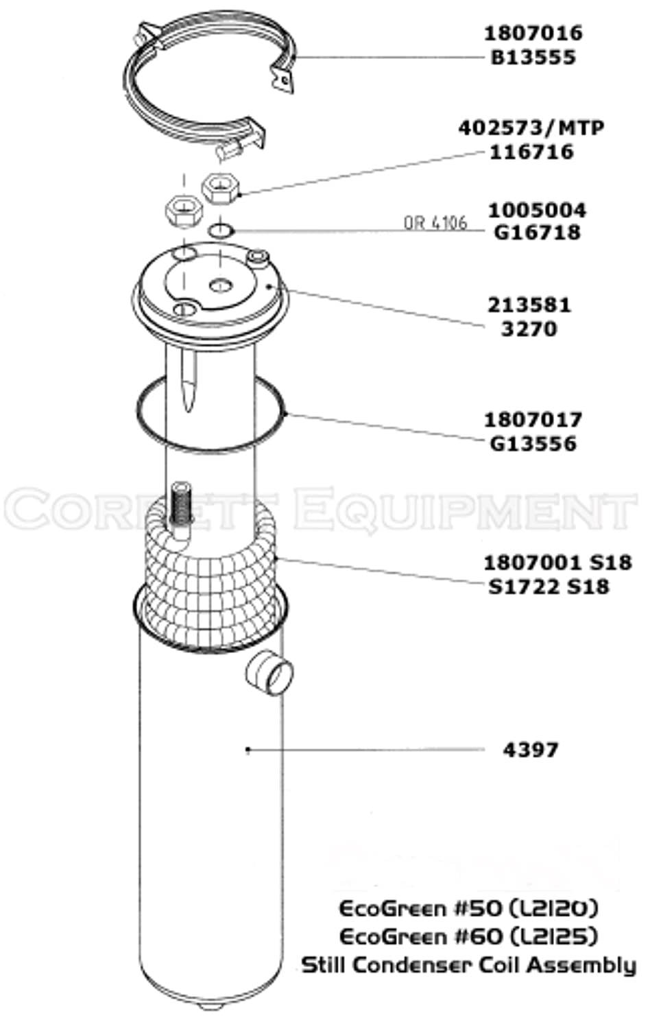 Condensor Gasket for Union, Realstar dry cleaning machines #1807017 #G13556
