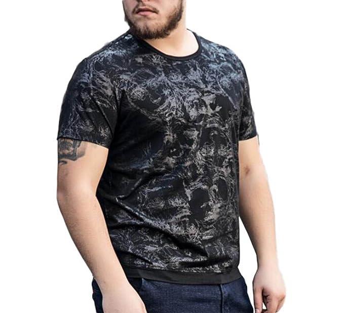 GHGJU Camiseta De Manga Corta Con Estampado De Verano De Los Hombres Camiseta De Moda Con