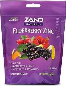 Zand Immunity Elderberry Zinc HerbaLozenge | Immune Support Throat Drops | No Cane Sugar or Corn Syrup (80 Lozenges)
