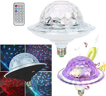 Proyector lámpara caja Bluetooth LED RGB altavoz discoteca e27 ...