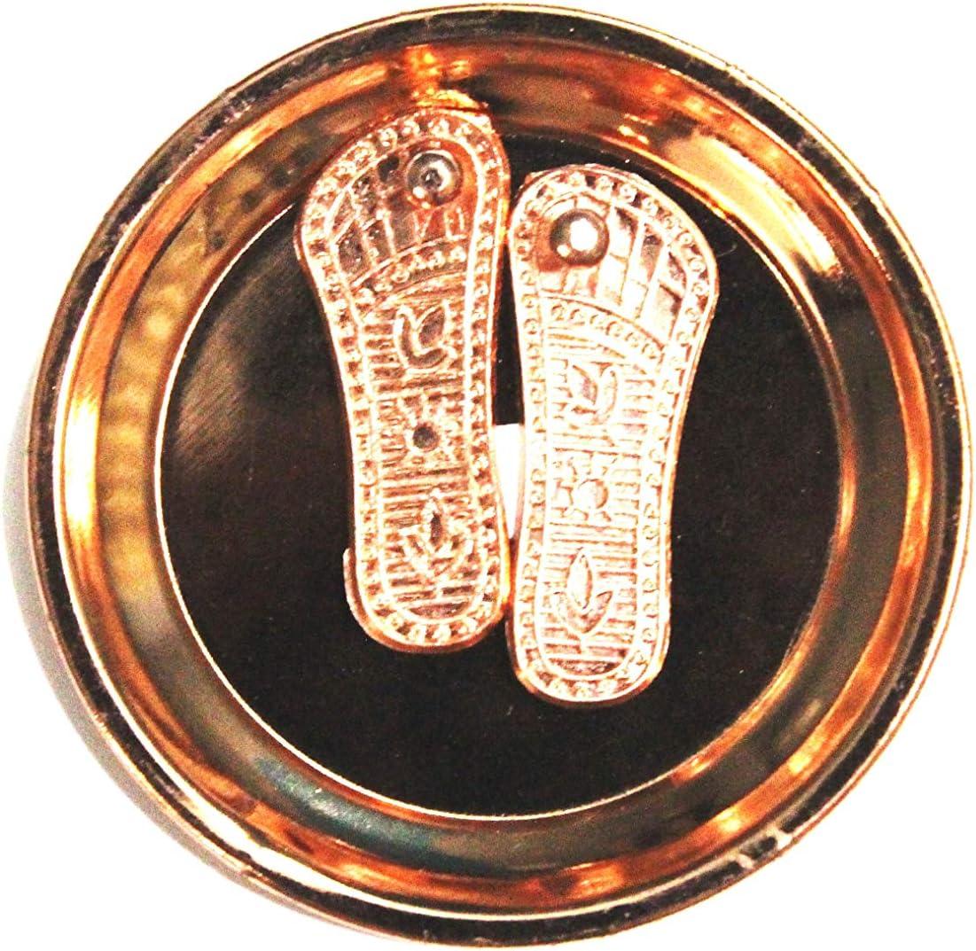 Diwali Laxmi Pooja Laxmi Charan Paduka with Copper Plate for Diwali /& Laxmi Puja,Traditional Diwali Decoration Laxmi Feet for Diwali Laxmi Paduka for Diwali