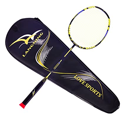 51f500c65 Badminton Racquet Light Racket Set Carbon Fiber 7u Best Tournament Single  Shuttle Bat Carrying Bag -