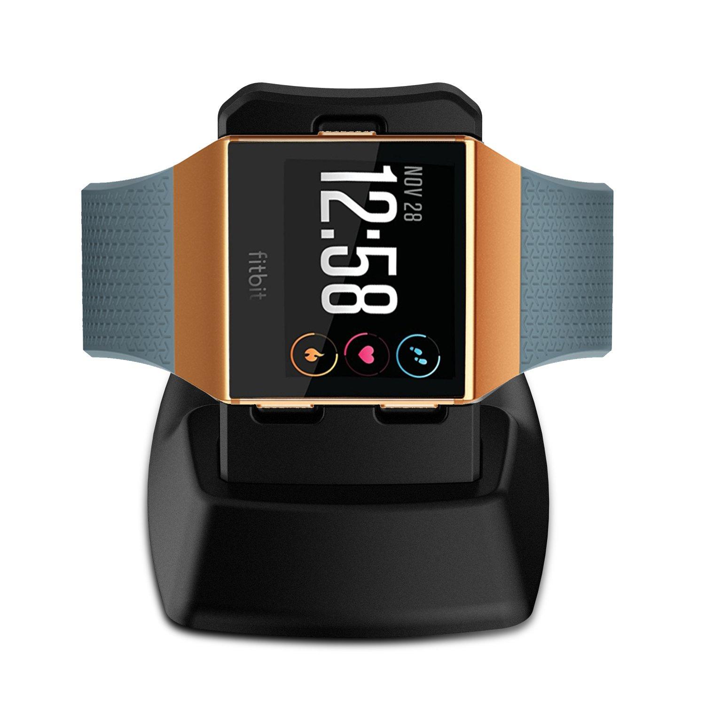 Fitbit Ionic Cargador, Basstop Accesorios de muelle de carga inalámbrico Soporte de carga Soporte de cuna para Fitbit Ionic Smart Watch -Negro: Amazon.es: ...