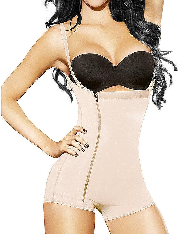 YIANNA Women Body Shaper Seamless Tummy Control Shapewear Open Bust Slimmer Belly Bodysuit