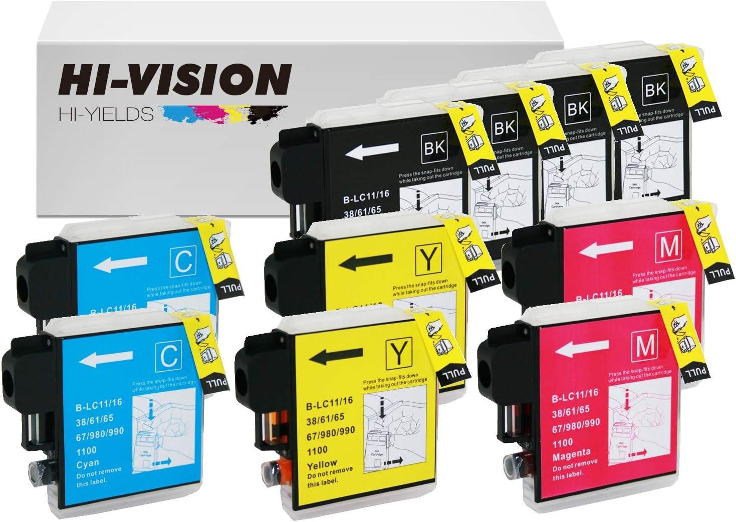 4 Full Refillable Ink Cartridges Brother LC-61 65 MFC-J410W J415W J615W J630W