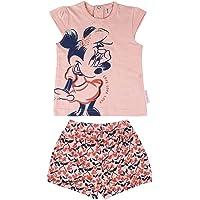 Cerdá Conjunto Bebe Niña Verano de Minnie Mouse Disney - Camiseta + Pantalon de Algodon Juego Cortos Bebé-Niñas