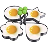 4-pack, Egg Rings, Stainless Steel Pancake Mold Set, Ring Molds for Cooking,Egg Cooker, Eggs Maker Mold, Make the Perfect Pan