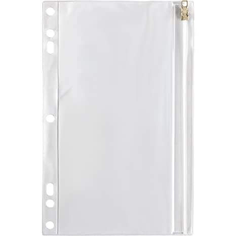 Spr01606   Vinyl Ring Binder Pocket, 9 1/2x6, Clear by Sparco