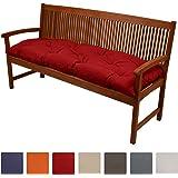 Beautissu Bankauflage Flair BK ca.120x50x10 cm bequeme Polster Garten-Bank Auflage Sitzauflage Bank in Rot