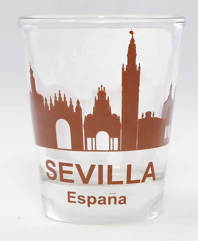 Seville (Sevilla) España Sunset Skyline Vaso de chupito: Amazon.es: Hogar
