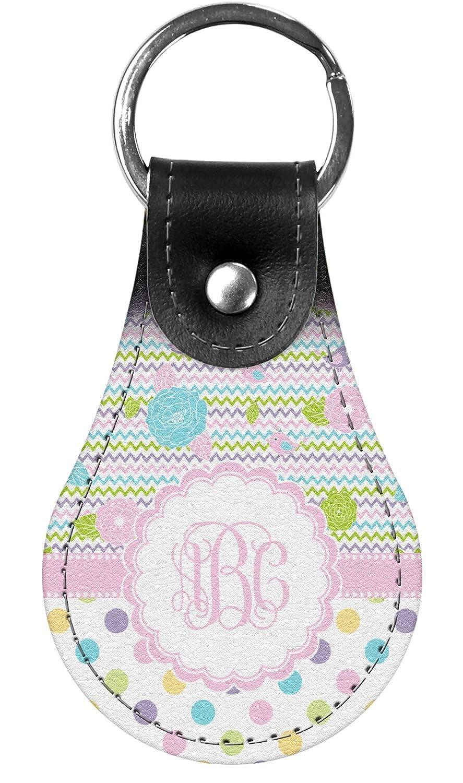Girly Girl Genuine Leather Keychain Personalized