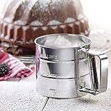 Westmark 32152270setaccio per farina e zucchero a velo, Acciaio Inossidabile, in acciaio inox, argento, 15.7x 10.4x 9.5cm