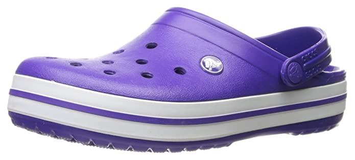 Crocband Shoe for Adults - Available in Many Colors! Size: 13 D(M) US Mens Color: Ultraviolet/White