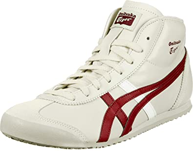 Onitsuka Tiger Mexico Mid Runner chaussures birch/burgundy Fly London Stot267fly  Gris (Grey) q27G1
