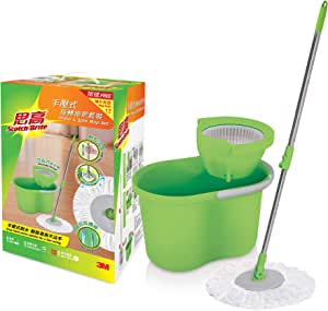 Scotch-Brite T4 Press and Spin Mop Set with Free Refill