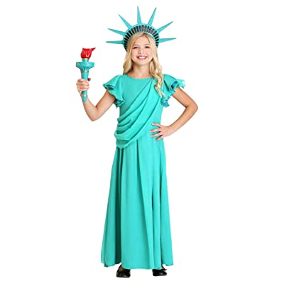 Girl's Statue of Liberty Costume: Clothing