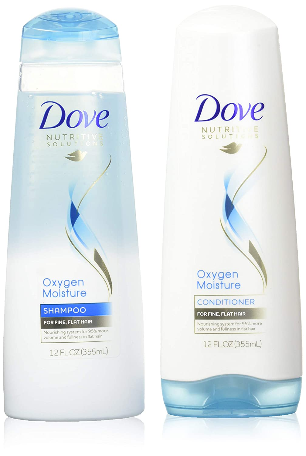 Dove Advanced Hair Series Oxygen Moisture, Shampoo and Conditioner Set, 12 Ounce Each