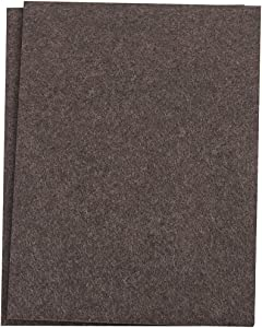 "SoftTouch Self-Stick Furniture Felt Sheet for Hard Surfaces to Cut into Any Shape (2 pack) - Walnut Brown, 4-1/2"" x 6"" sheets"