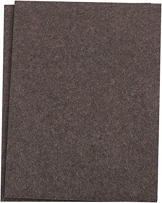 """SoftTouch Self-Stick Furniture Felt Sheet for Hard Surfaces to Cut into Any Shape (2 pack) - Walnut Brown, 4-1/2"""" x 6"""" sheets"""