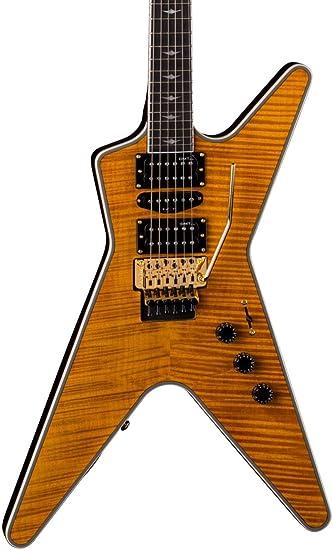 Amazon Com Dean Ml Sb F Tam Solid Body Electric Guitar Trans Amber