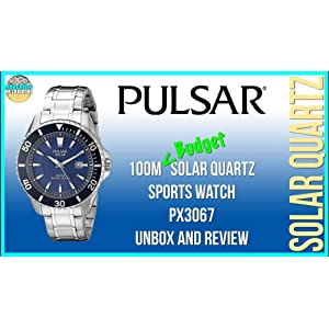 674d1ee8a Best Budget Solar! Pulsar 100m Solar Quartz Sports Watch PX3067 Unbox And  Review